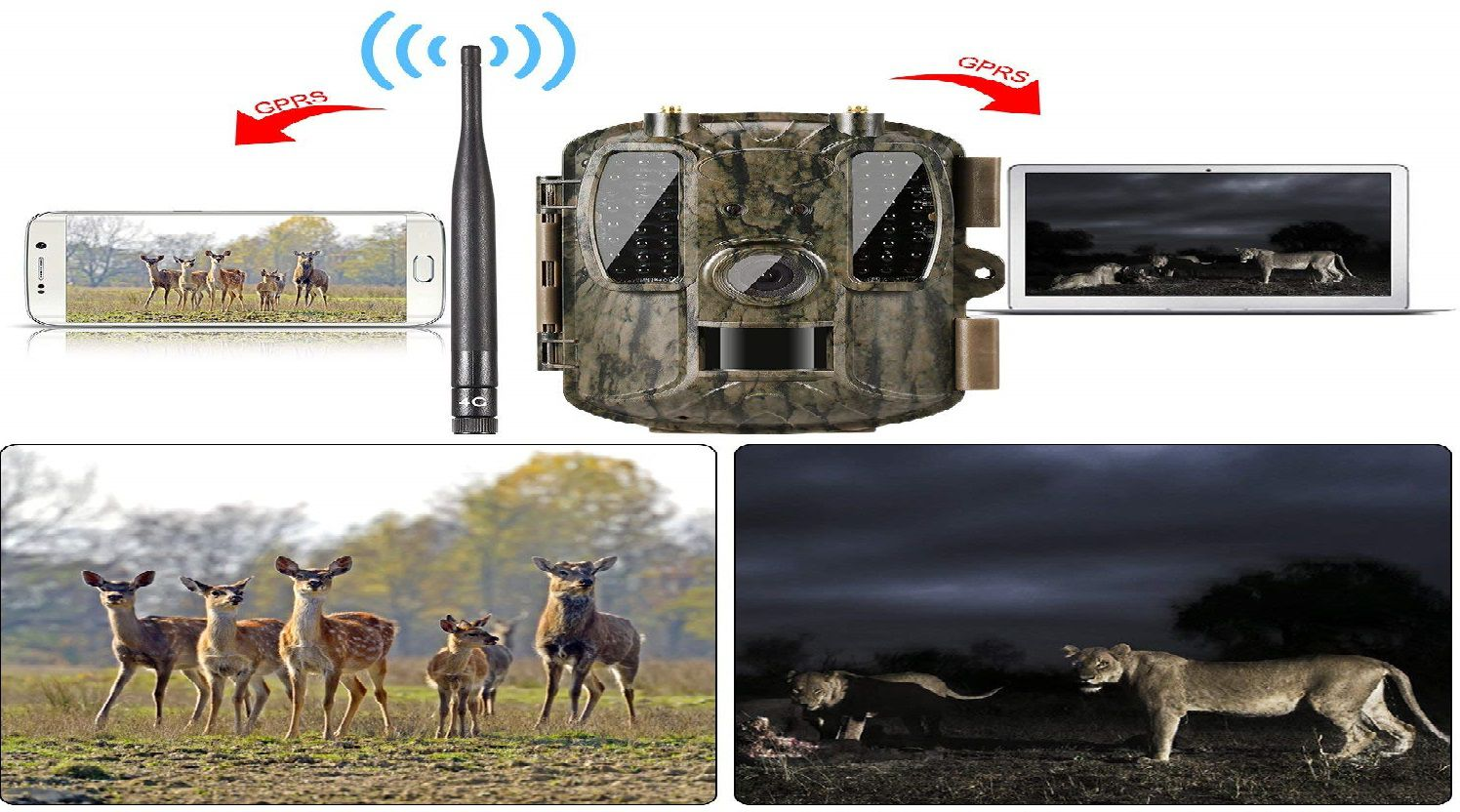 Ancheer 4G Wireless Trail Game Camera