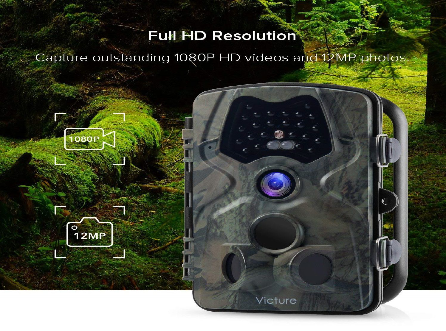 Victure 12MP Wildlife Trail Camera