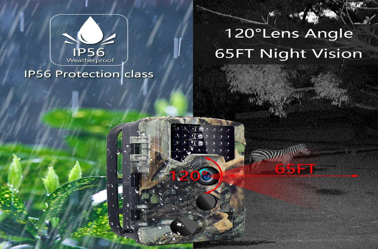 Sovacam 16MP 1080P Trail Camera
